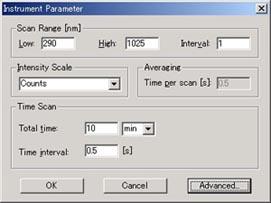 測定パラメータの設定